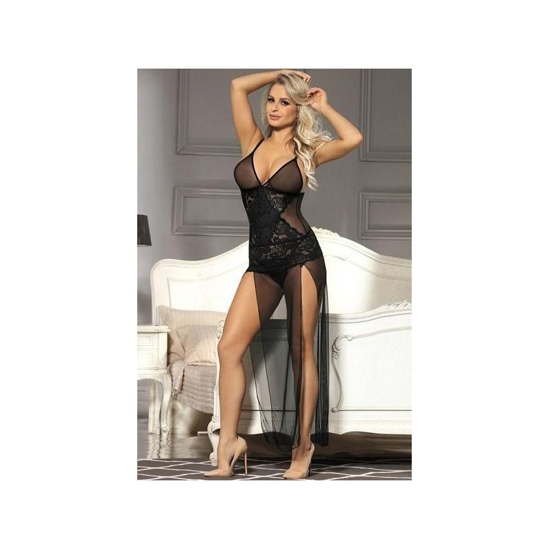 super populaire 86169 91f6e Ensemble Lingerie sexy femme Nuisette longue transparente et string DU XL  AU 5 XL cadeau st valentin anniversaire noel neuve - Amzalan.com