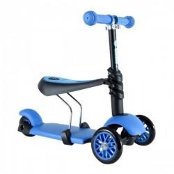 Patinette trottinette 3 roues évolutive 3 en 1 - bleu jeux plein air neuf