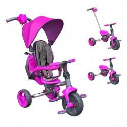 Tricycle Evolutif Strolly Compact - Rose bébé enfant jeux plein air idée cadeau anniversaire noël neuf