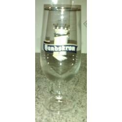 """Verre a bière """" LANDSKRON"""" 25 cl rebord doré collection tbe"""