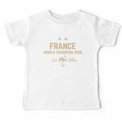 T-shirt football enfant - France 2 etoile - World champions 2018 du 3 au 11ans vêtement neuf