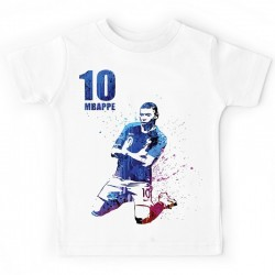 T-shirt football France enfant Kylian Mbappe no 10 - champion du monde 2018 du 3 au 11ans vêtement neuf