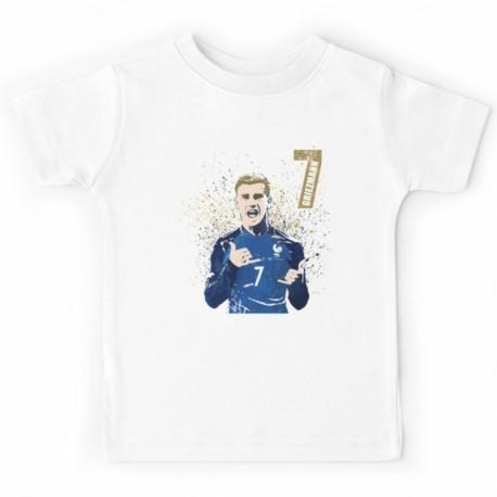 T-shirt football France enfant Antoine Griezmann - champion du monde 2018 du 3 au 11ans vêtement neuf