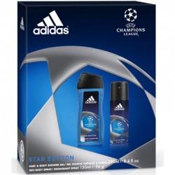 Adidas Gel douche + déo Ligue des champions homme foot parfum cadeau neuf