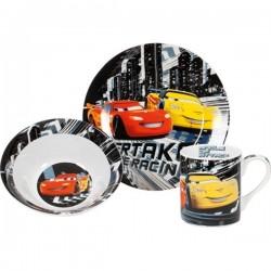 Set petit déjeuner 3 pièces mug - bol et assiette cars disney
