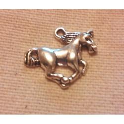 Bijou - Pendentif forme de cheval en argent tibétain