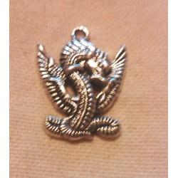 Pendentif forme de dragon en argent tibétain Bijou idée cadeau neuf