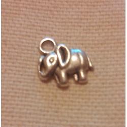 Bijou - Pendentif forme d'éléphant en argent tibétain