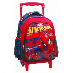 Sac à dos Trolley Spiderman garcon cartable scolaire enfant neuf