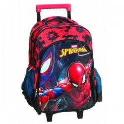 Sac à dos trolley Spiderman - Qualité supérieure 47 cm cartable scolaire enfant neuf