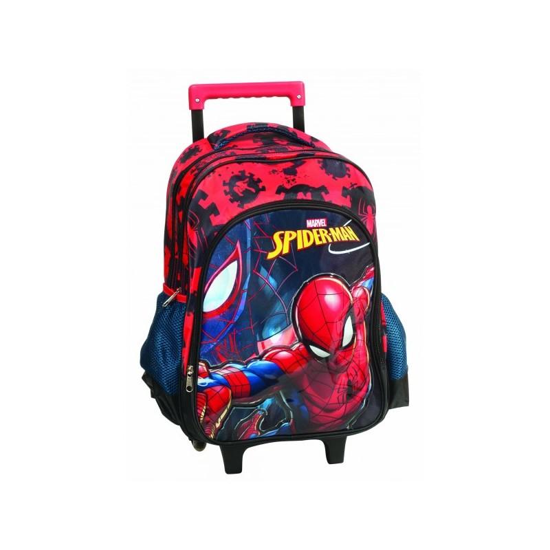 Sac à dos trolley Spiderman - Qualité supérieure 47 cm cartable scolaire  enfant neuf. Loading zoom 078d0decd65