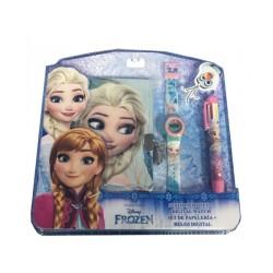 Set La Reine des Neiges Frozen journal intime + montre + stylo 6 couleurs licence Disney idée cadeau anniversaire noel neuf