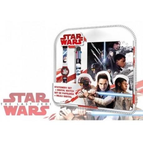 Set Star Wars v02 Bloc Note + montre + stylo 6 couleurs anniversaire cadeau neuf