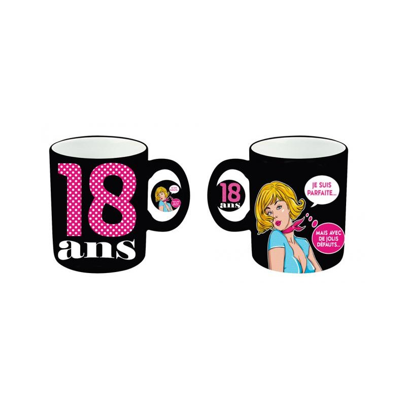 mug tasse c ramique femme anniversaire femme 18 ans idee. Black Bedroom Furniture Sets. Home Design Ideas