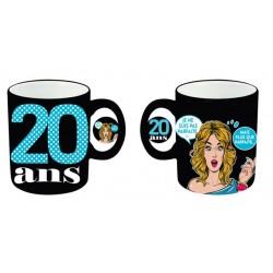 Mug céramique Femme 20 ans anniversaire IDEE CADEAU NEUF