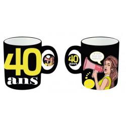 Mug tasse céramique 40 ans Femme anniversaire IDEE CADEAU NEUF