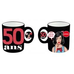 Mug céramique 50 ans Femme anniversaire IDEE CADEAU NEUF
