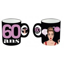 Mug tasse céramique 60 ans Femme anniversaire IDEE CADEAU NEUF