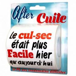Papier Toilette After Cuite HUMOUR ANNIVERSAIRE FETE SOIREE IDEE CADEAU NEUF