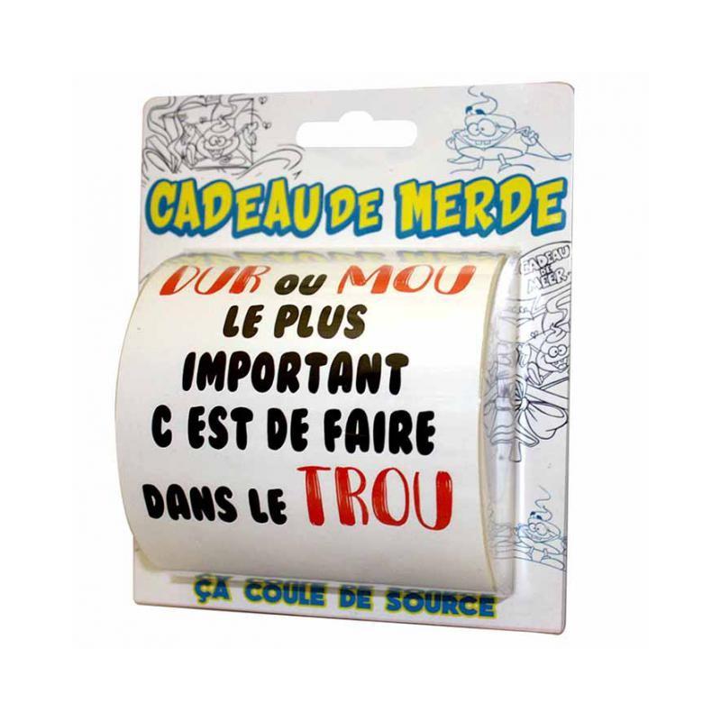 Idée Cadeau Humoristique Papier toilette cadeau de merde HUMOUR ANNIVERSAIRE FETE SOIREE