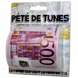 Papier Toilette Pété de tunes HUMOUR ANNIVERSAIRE FETE SOIREE IDEE CADEAU NEUF