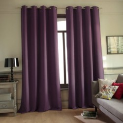 Rideau Occultant + atténuation des bruits Violet à Oeillets 140 x 260 cm déco maison neuf