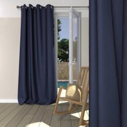 Rideau Occultant + atténuation des bruits Bleu marine à Oeillets 140 x 260 cm déco maison neuf