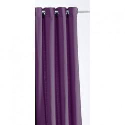 Rideau Jacquard Paille de Riz Violet 140 x 260 cm cm déco maison neuf