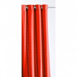 Rideau Jacquard Paille de Riz Rouge 140 x 260 cm cm déco maison neuf