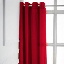 Rideau a Oeillets Rouge 140x260 cm cm décoration maison fenetre neuf