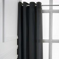 Rideau a Oeillets Gris foncé 140x260 cm cm décoration maison fenetre neuf