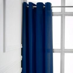 Rideau a Oeillets Bleu Marine 140x260 cm cm décoration maison fenetre neuf