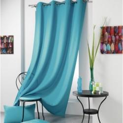 Rideau a Oeillets bleu Turquoise 140x260 cm cm décoration maison fenetre neuf