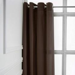 Rideau a Oeillets Bronze 140x260 cm cm décoration maison fenetre neuf