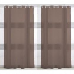 Rideau voilage Bronze uni à oeillets 135 x 240 cm déco maison neuf