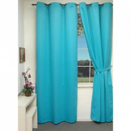 Rideau isolant thermique bleu turquoise 140x240 cm d coration fen tre de maison neuf for Rideau turquoise