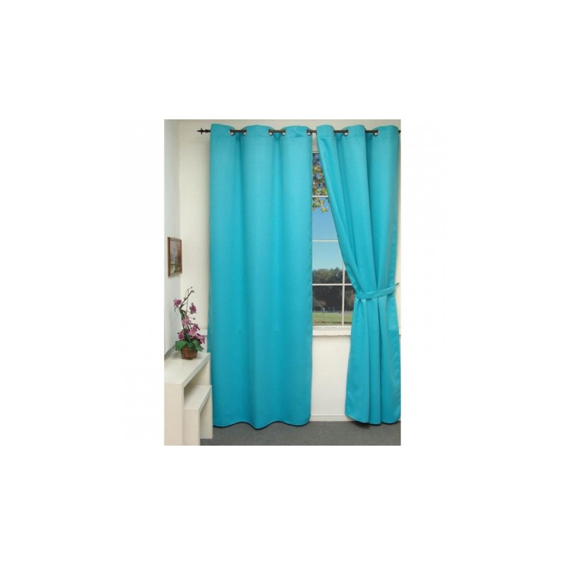 rideau isolant thermique bleu turquoise 140x240 cm. Black Bedroom Furniture Sets. Home Design Ideas