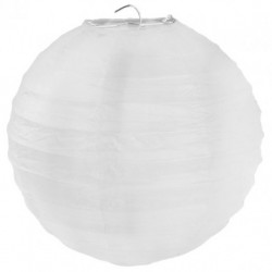 Grande Boule chinoise lampion blanche 50 cm déco salle mariage anniversaire baptême retraite neuve
