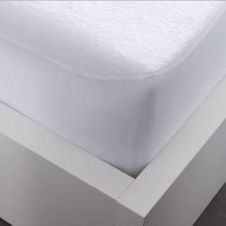 Protège Matelas 2 personnes 140x190 cm Plastifié Impermeable Anti acariens lit neuf
