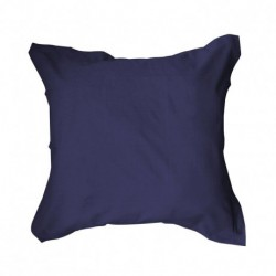 Taie d'oreiller 75x75 Bleu marine unie 100% coton chambre lit neuf