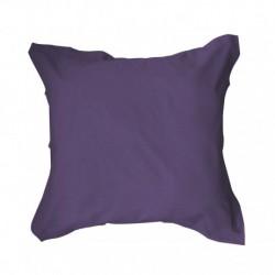 Taie d'oreiller 75x75 Violet unie 100% coton chambre lit neuf