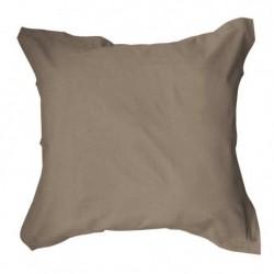 Taie d'oreiller 75x75 Bronze unie 100% coton chambre lit neuf