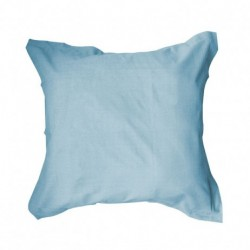 Taie d'oreiller 75x75 Blue ciel unie 100% coton chambre lit neuf