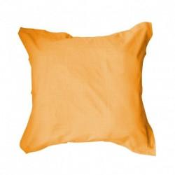 Taie d'oreiller 75x75 Orange unie 100% coton chambre lit neuf