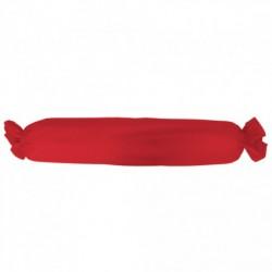 Taie de traversin 1 ou 2 personnes Rouge 100 % coton unie chambre lit neuf