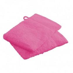 Lot de 2 Gants de toilettes Rose en 100 % coton unie linge de toilette salle de bain neuf