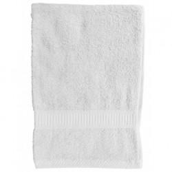 Serviette de toilette Blanche 50x90 cm 100 % coton unie linge de toilette salle de bain neuf