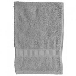 Serviette de toilette Gris Clair 50x90 cm 100 % coton unie linge de toilette salle de bain neuf