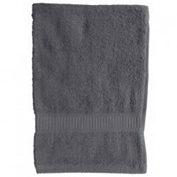 Serviette de toilette Gris Foncé 50x90 cm 100 % coton unie linge de toilette salle de bain neuf