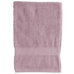 Serviette de toilette Rose 50x90 cm 100 % coton unie linge de toilette salle de bain neuf
